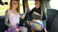 FakeTaxi Azura Alii And Piggy Mouth Sloppy Double BJ
