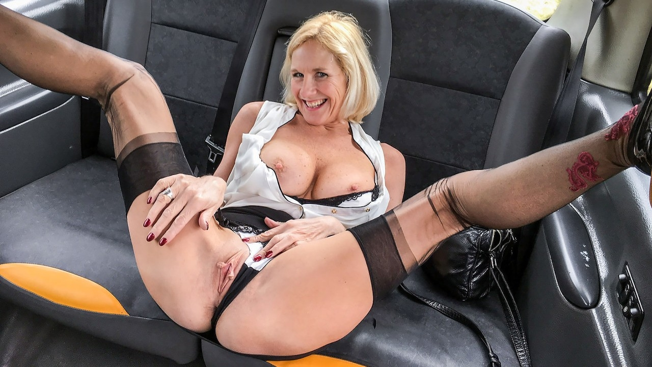 Fake Taxi Molly MILF Older lady's Big Pussy Lips Opened